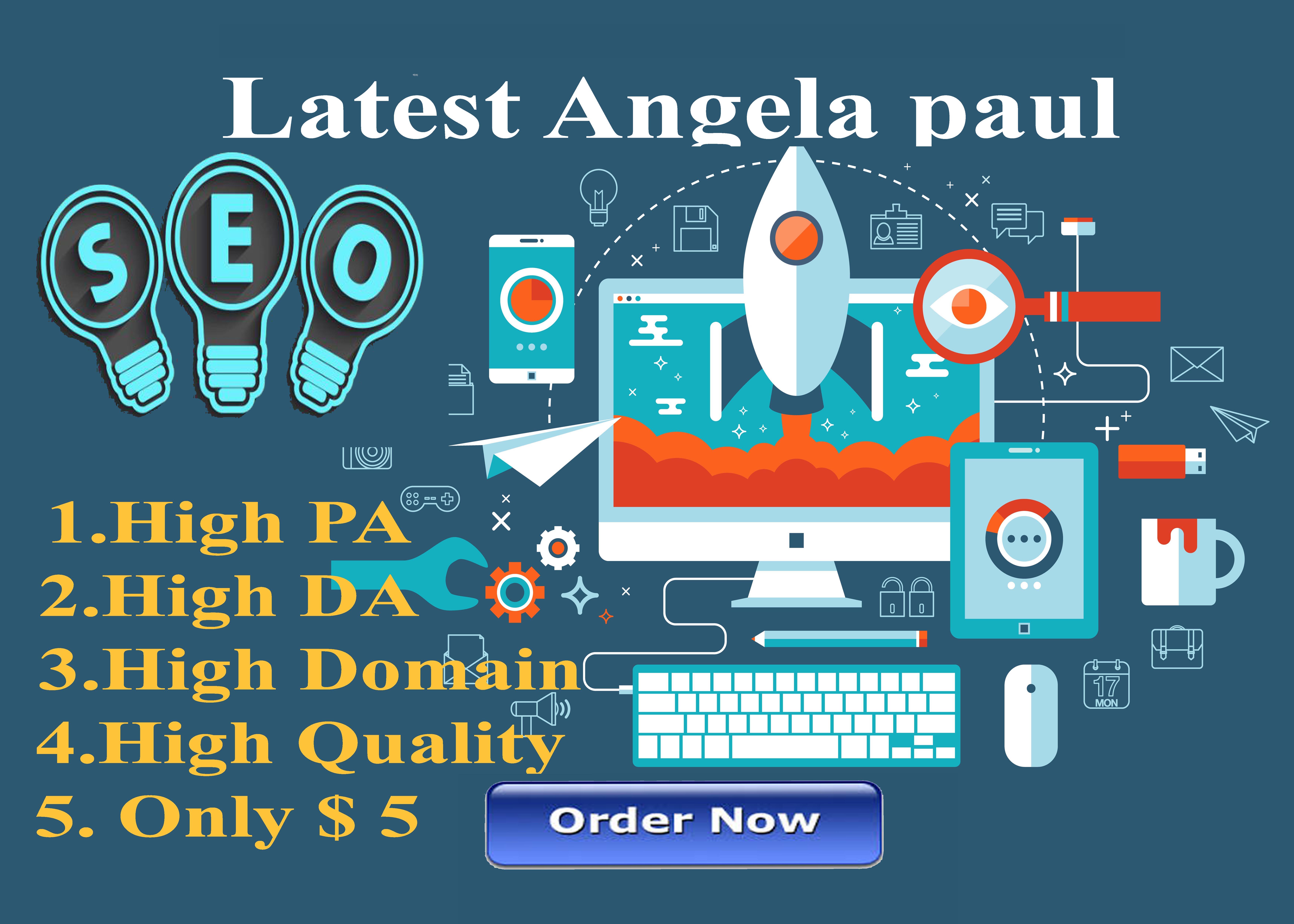 I Create 60 Latest Angela Paul, High Quality, Backlinks