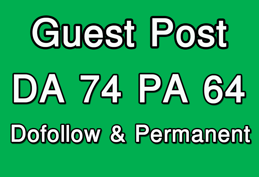 Publish Guest Post on High DA PA and TF CF website.