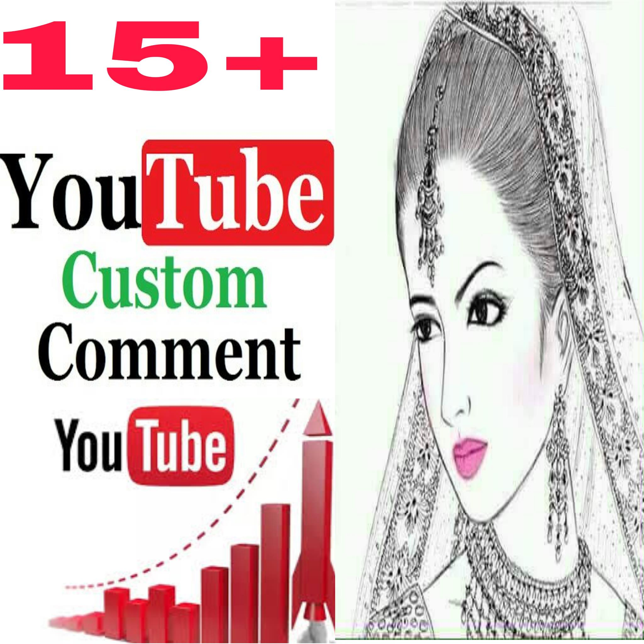 Stable 20+ Non-Drop  Custom Comment Different YouTube Account must be profile picture