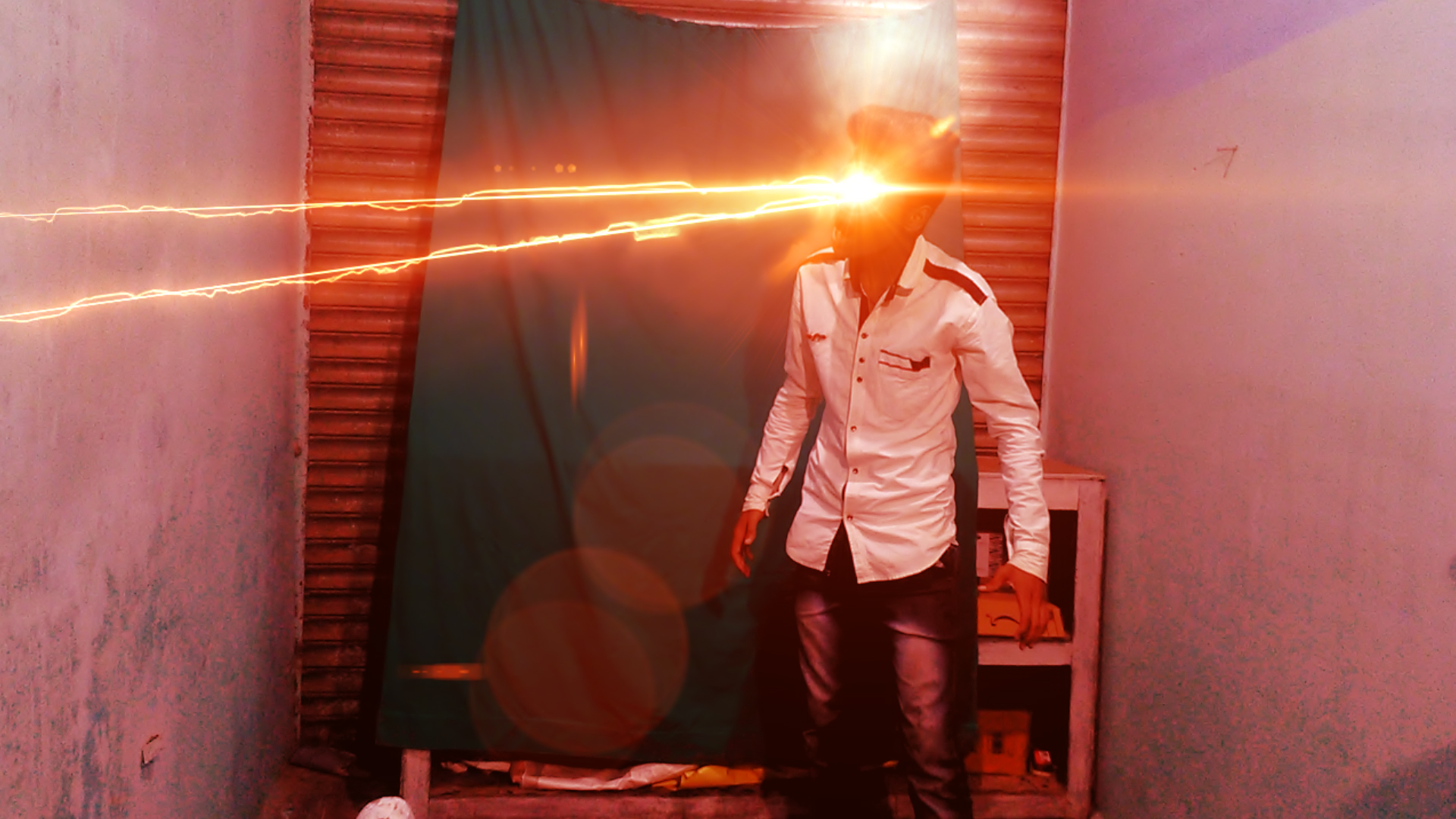 will make you Superman heat vision in your shoot video