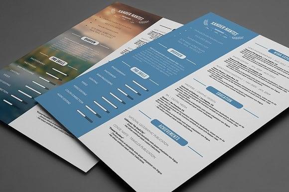 Design Resume Cv Curriculum Vitae Cover Letter For 10