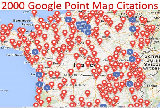 1500 Google Point Map Citation for Local SEO