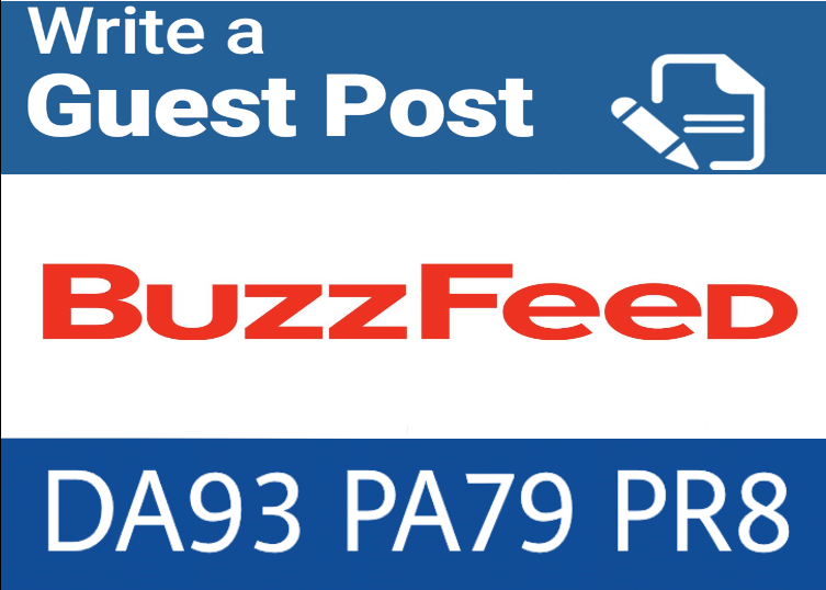 guest post on buzzfeed. Com DA 93 PA79, PR 8 DOFOLLOW Backlink