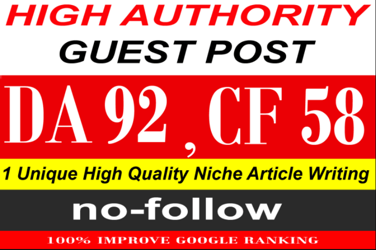 write & publish a guest post on Quora. Com PA91,  CF58,  DA92 limited offer
