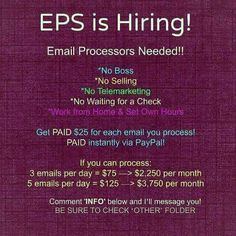 EPS email processing service is hiring