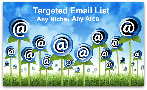 Collected 50000 targeted email list