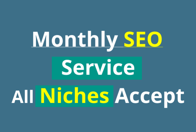 Do powerful off page monthly SEO service with weekly reports