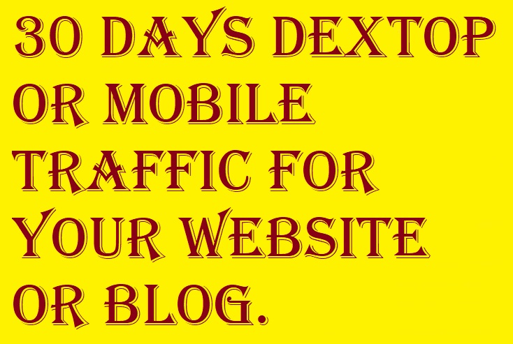 30 Days Desktop or Mobile Traffic for your Website or...