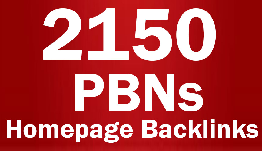 2150  PBNs Permanent Blogs Homepage Backlinks - Manual work Whitehat