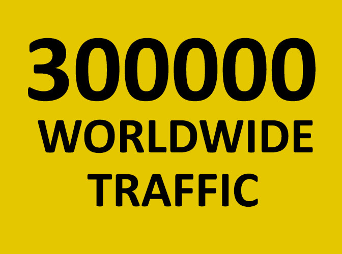 3,00,000 Website Traffic Worldwide