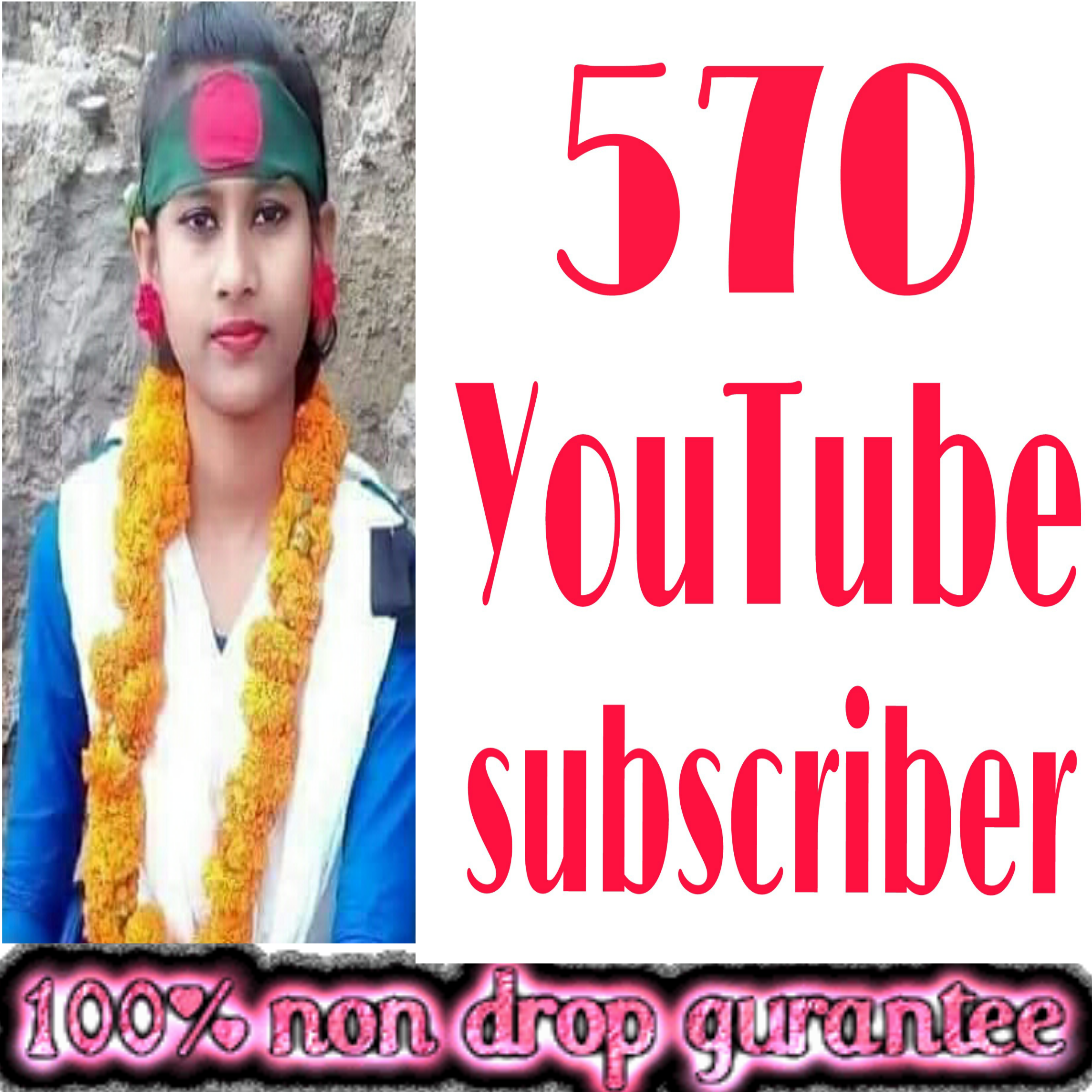 INSTANT provide 570+ NON-DROP guaranteed  channel SUBSCRIBERS very fast delivery within 2-9 hours