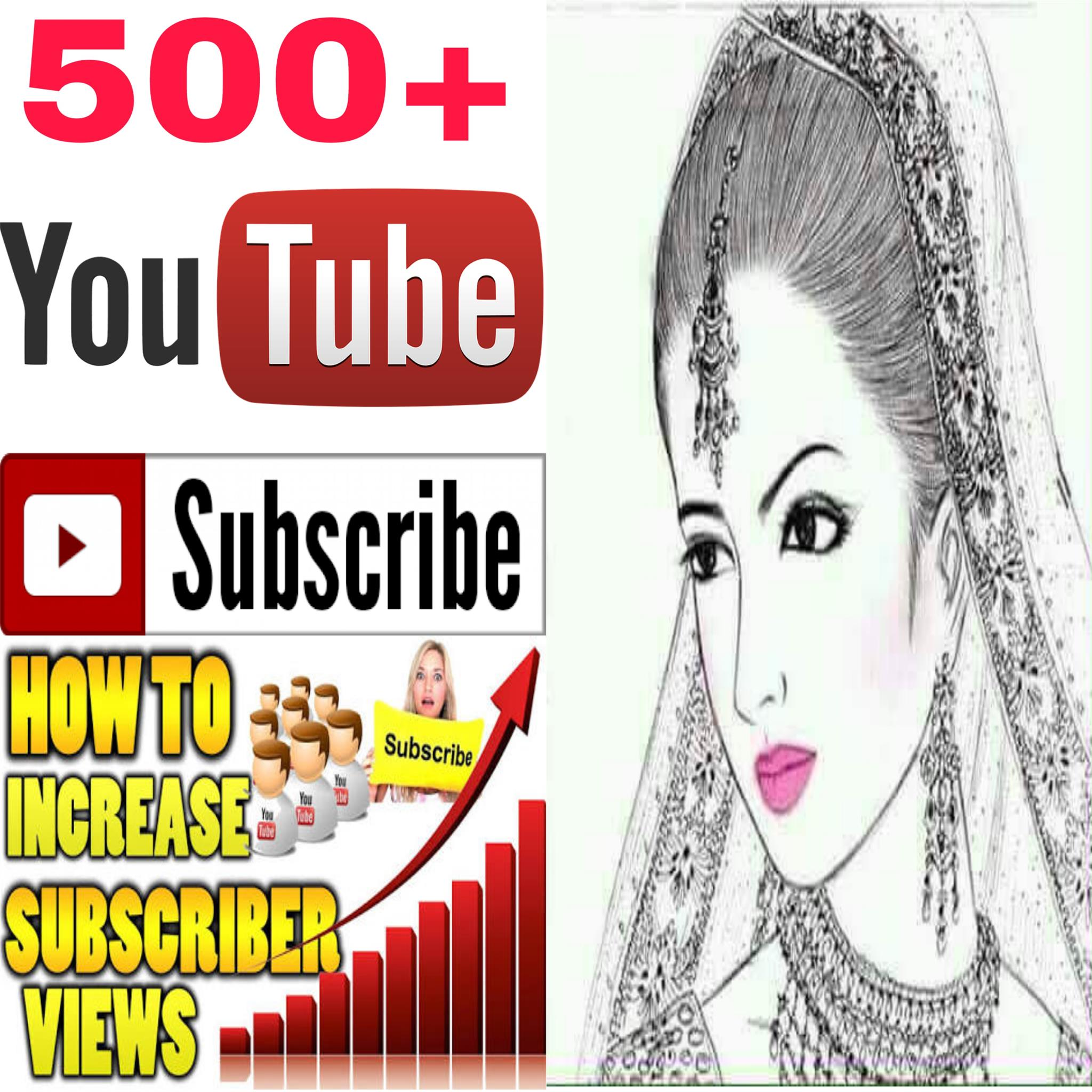 INSTANT provide manually  500+ must be Rifile  NON-DROP guaranteed  channel SUBSCRIBERS very fast delivery within 2-9 hours