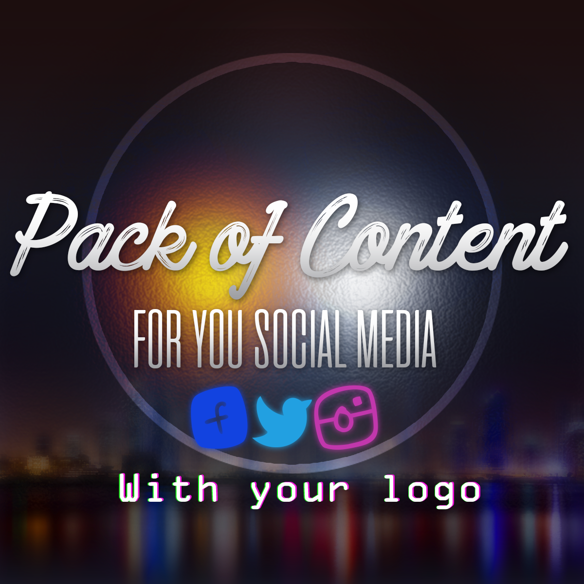 Create Pack Of Post For You Social Media With Your Logo
