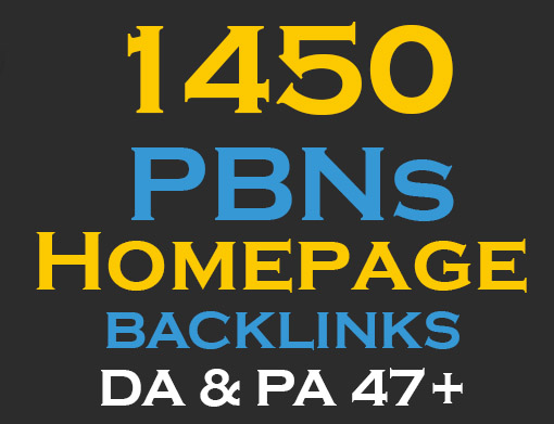 1450  PBNs Permanent Homepage Backlinks - Manual work