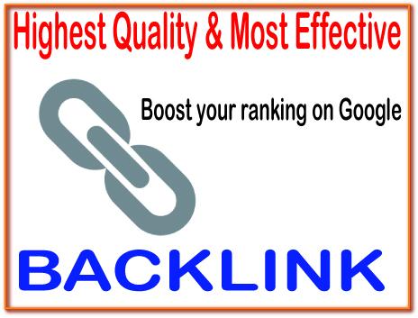 Get 2000 Highest Quality & Most Effective Backlinks