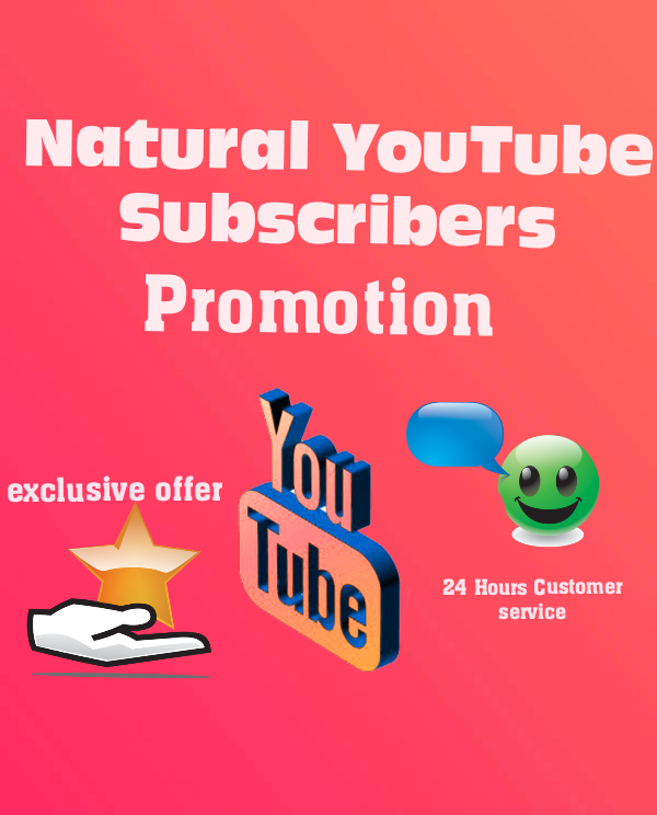 Natural You.Tube SUB Promotion permanent service