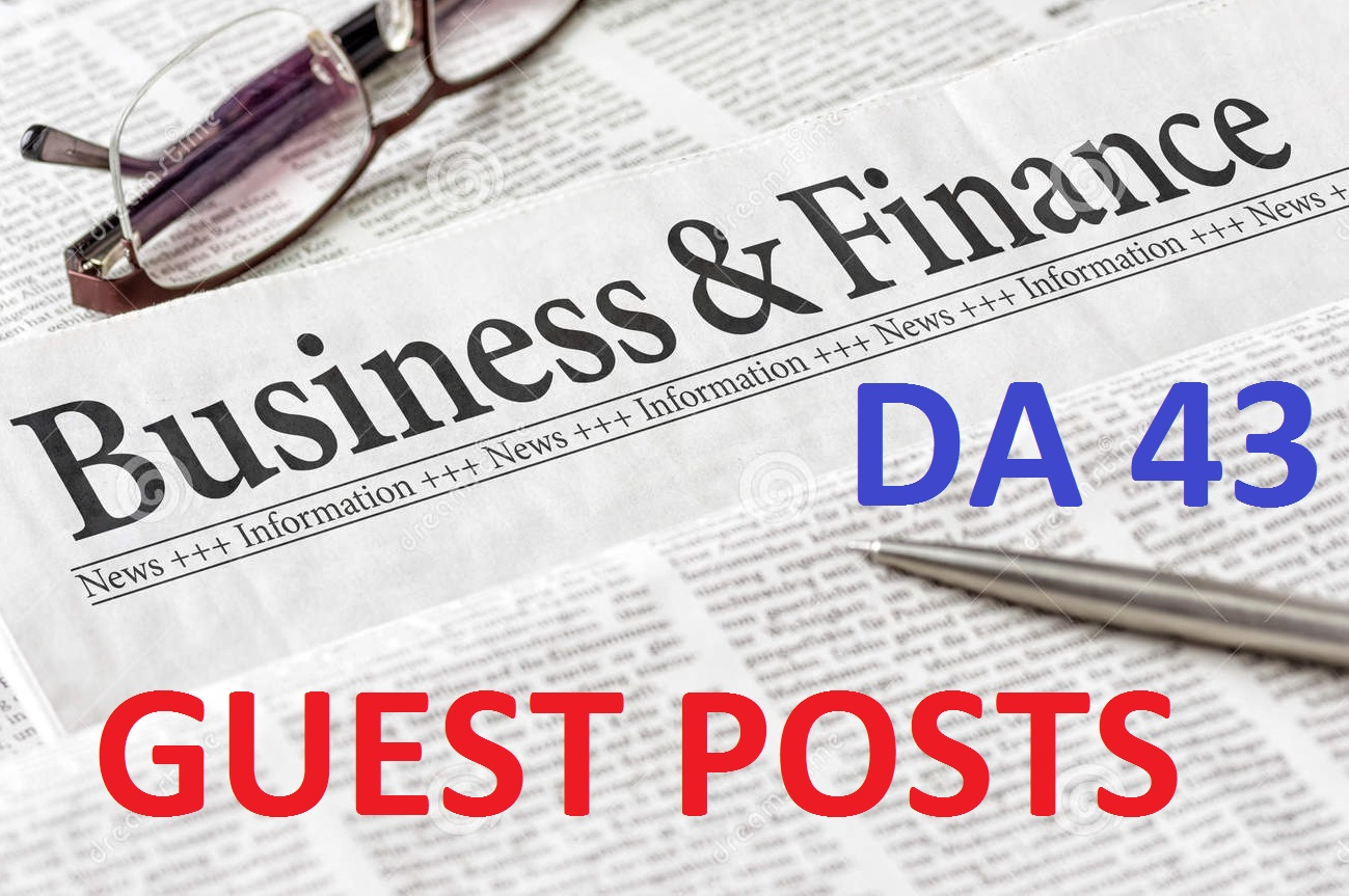Guest Post on DA43 Business and Finance Blog for $35