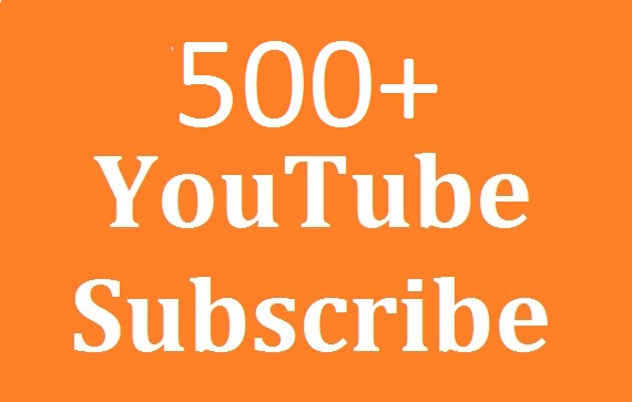 safe 500+ youtube subs'criber real Non Drop refill Guaranteed and very fast