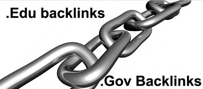 Do follow backlinks on 60 sites regarding EDU GOV with high PR