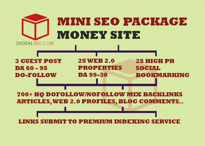Do Mini SEO Backlinks Package - DA 99 - 30 TF 80 - 20