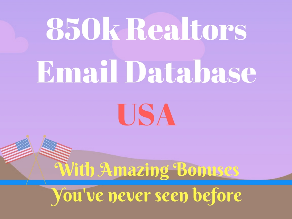 Give you 85k USA Realtors email list