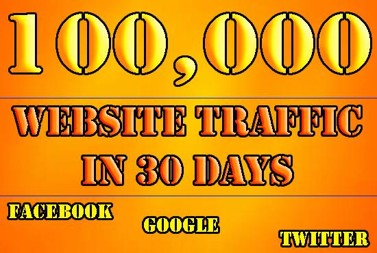 DRIVE 100000 REAL SOCIAL MEDIA TRAFFIC