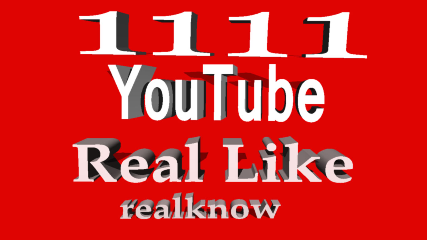 Get 405+  YouTube Real  L i k e  on your video