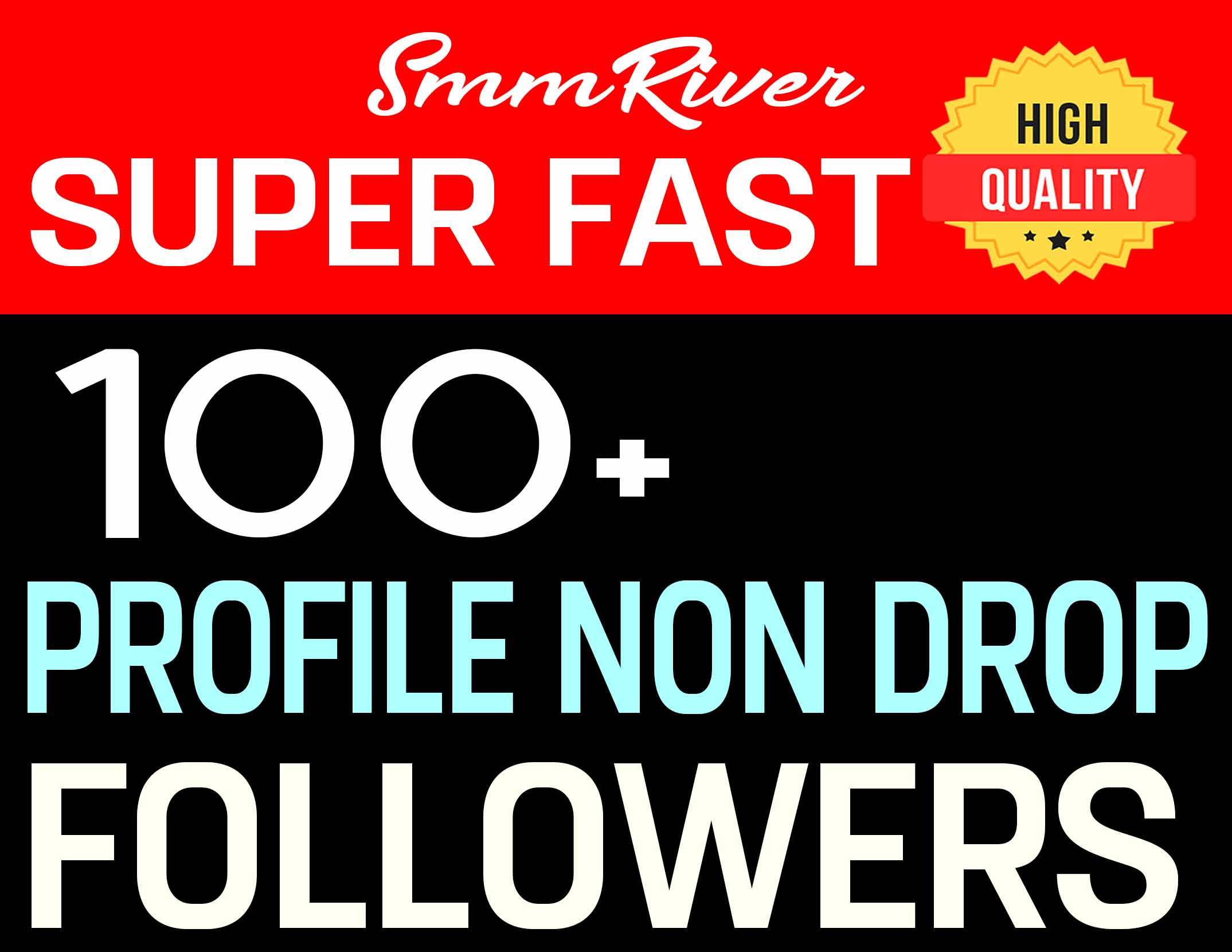 ADD 100+ PROFILE FOLLOWERS REAL HIGH QUALITY AND NON DROP - INSTANT