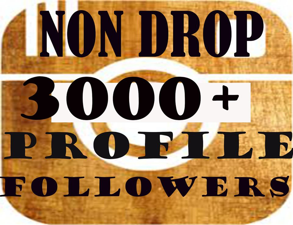 Provide 3000+Non Drop Social Profile Followers In 1-2 Hours