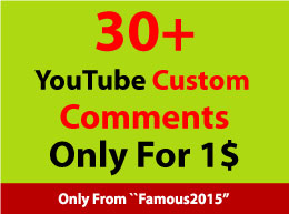 100+ You.Tube Custom Comments within 12-24 hours