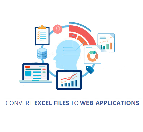 Convert excel one file or one SPREADSHEETS to web application