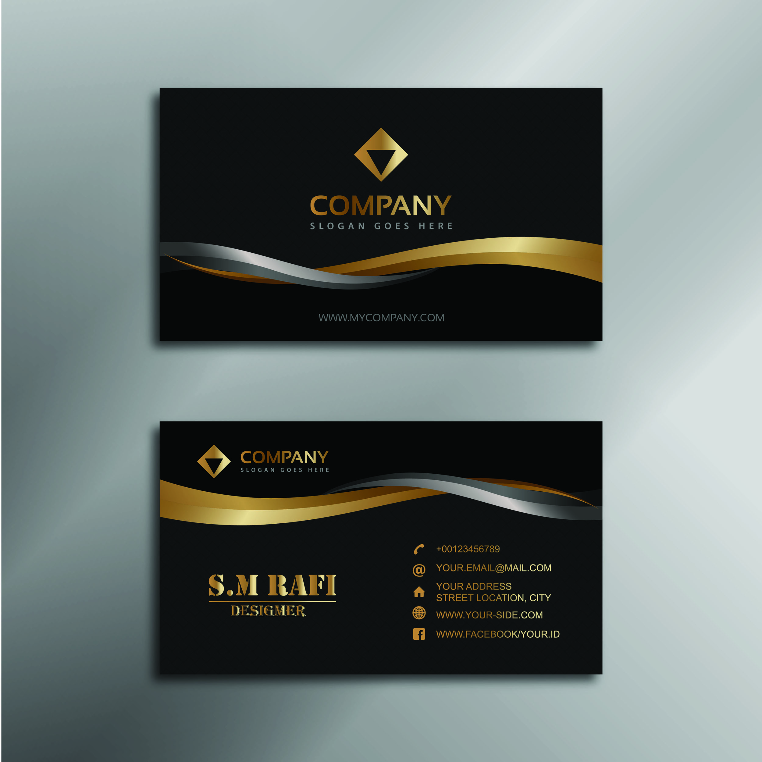 Professional Business Card Design for $5