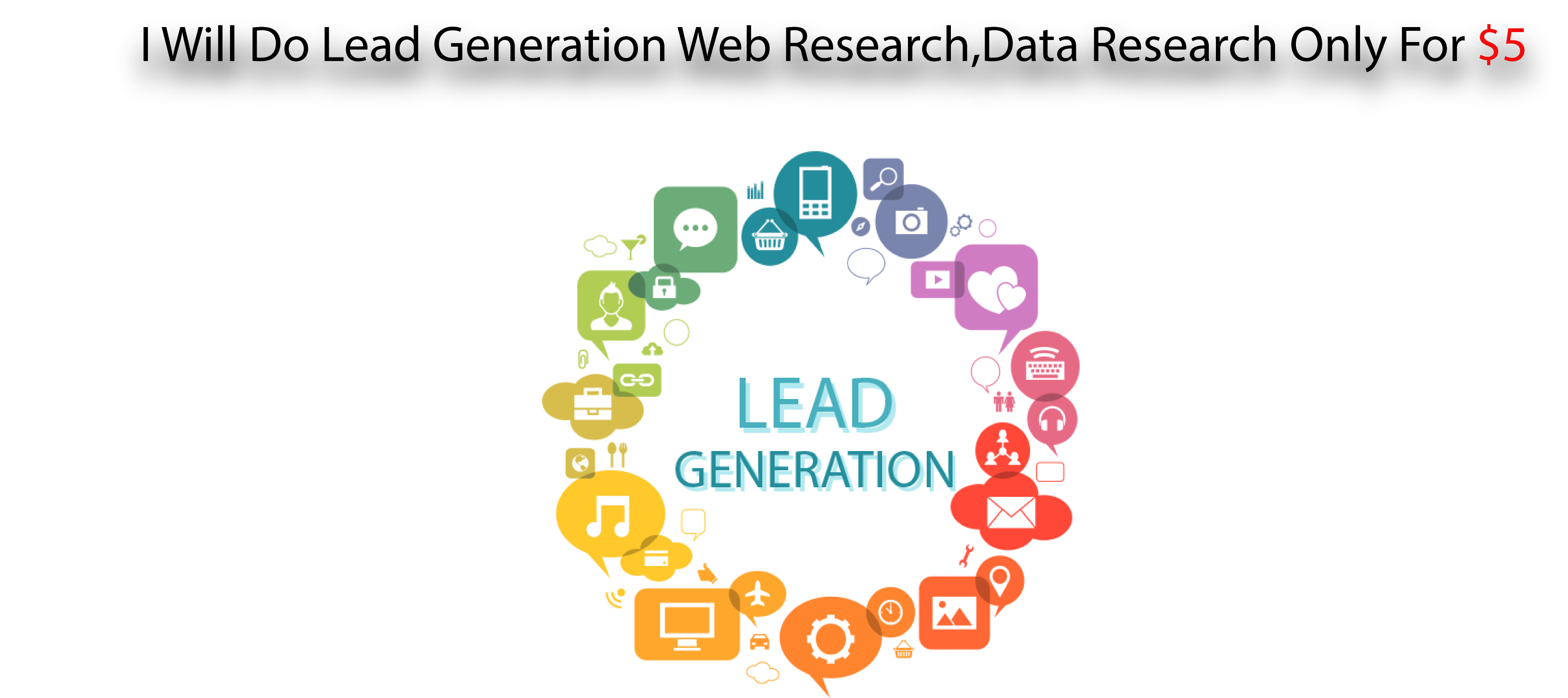 Lead Generation Web Research, Data Research, Email research Service Only For