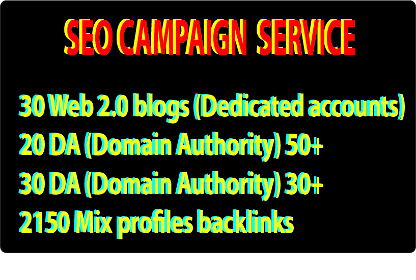 SEO Back-link campaign service  within 24 hours