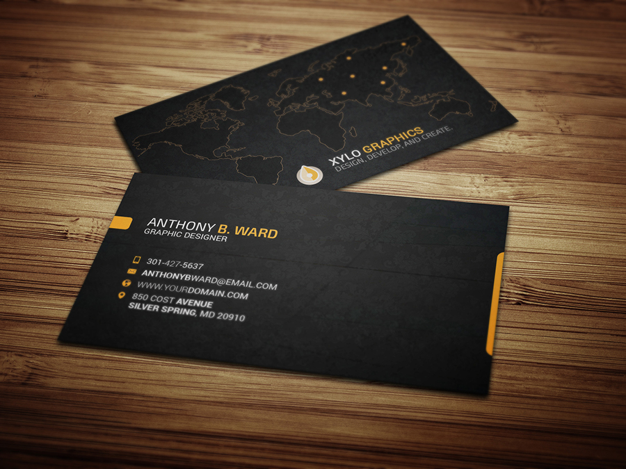 Eye catching double sided business card design for 5 seoclerks eye catching double sided business card design colourmoves Images