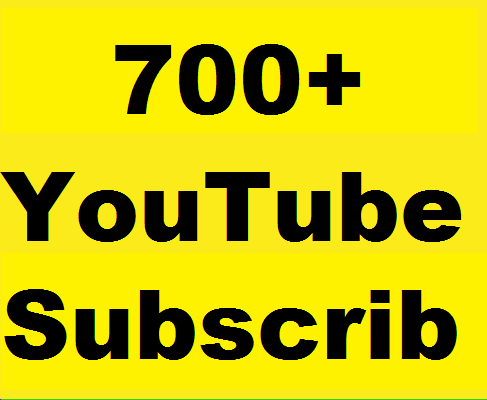 Safe 700+ Youtube Subs'criber Non Drop Refill Guaranteed  and instant start work just