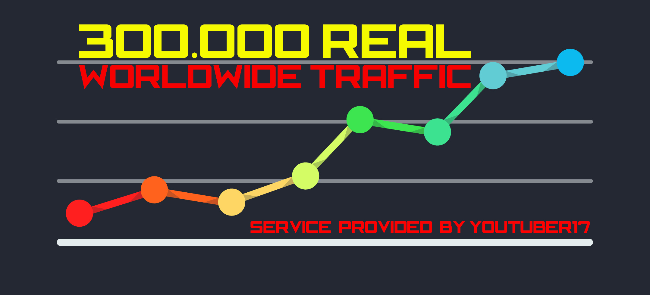 300.000 Web Traffic To Your Website,  Blog or Affiliate Link for 5
