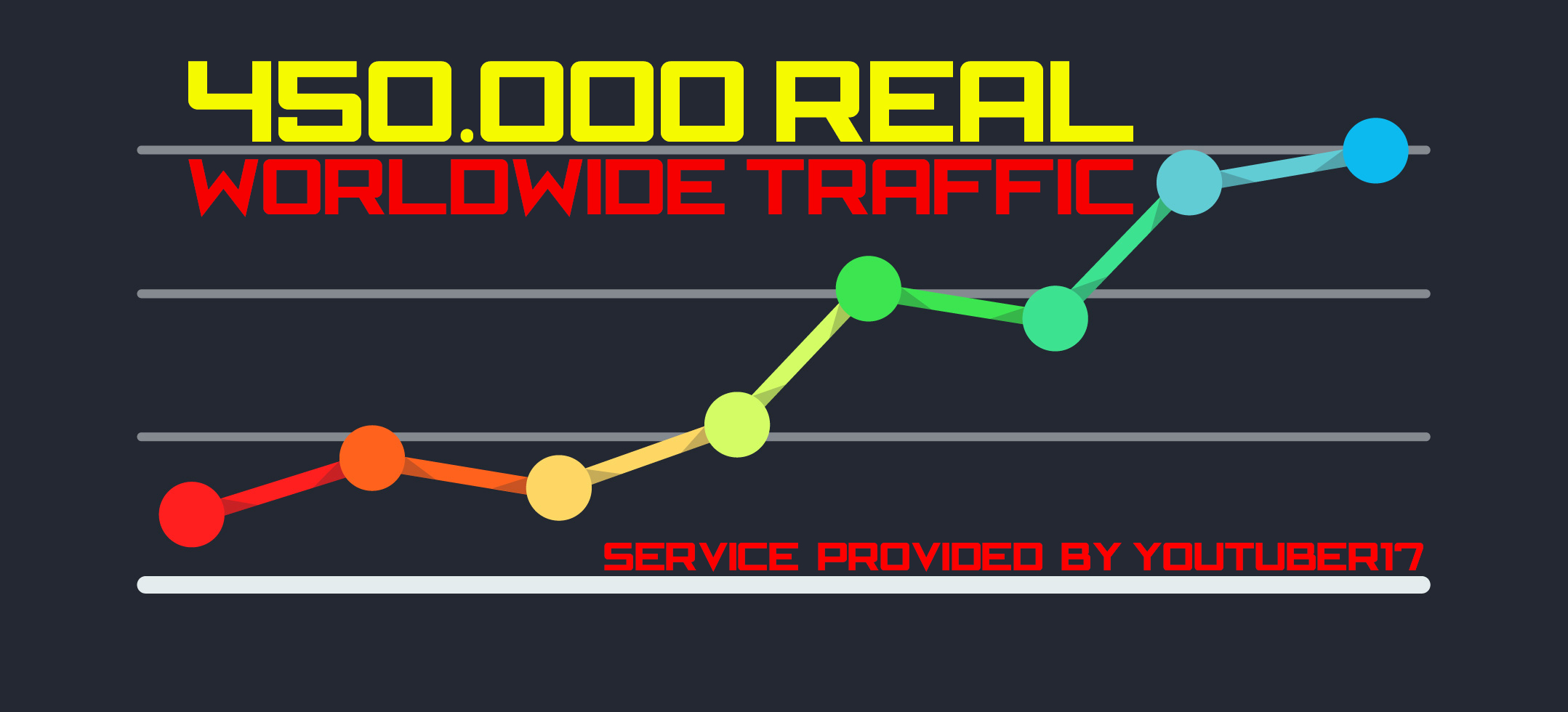 450.000 Web Traffic To Your Website,  Blog or Affiliate Link