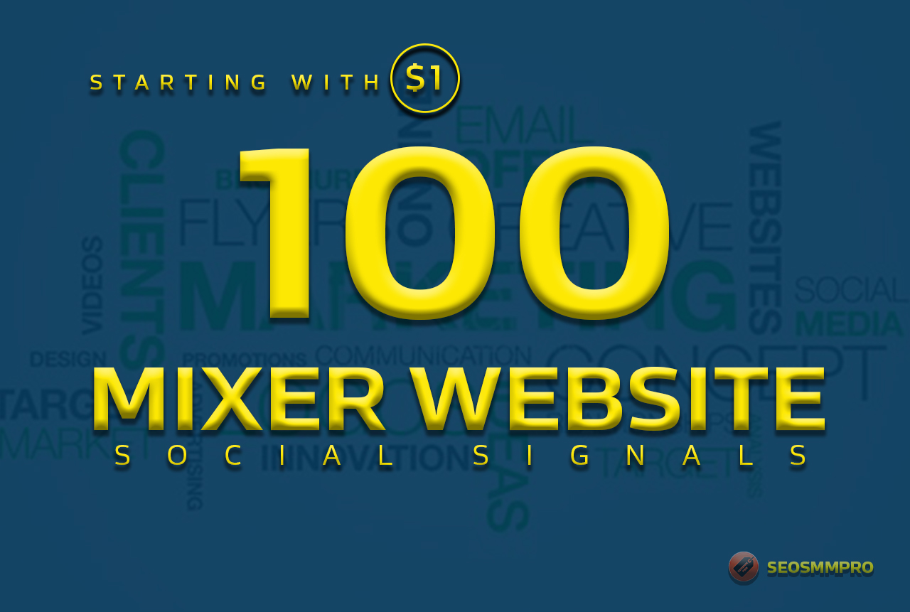 boost your website with 100+ POWERFUL Social Signals from only HIGH PR Backlink Websites