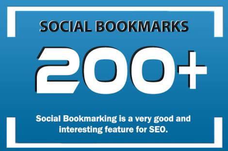 Add 200 Social Bookmarking Backlinks