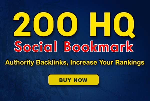 200+ SEO HQ social bookmarks to your site,  rss,  ping for 10