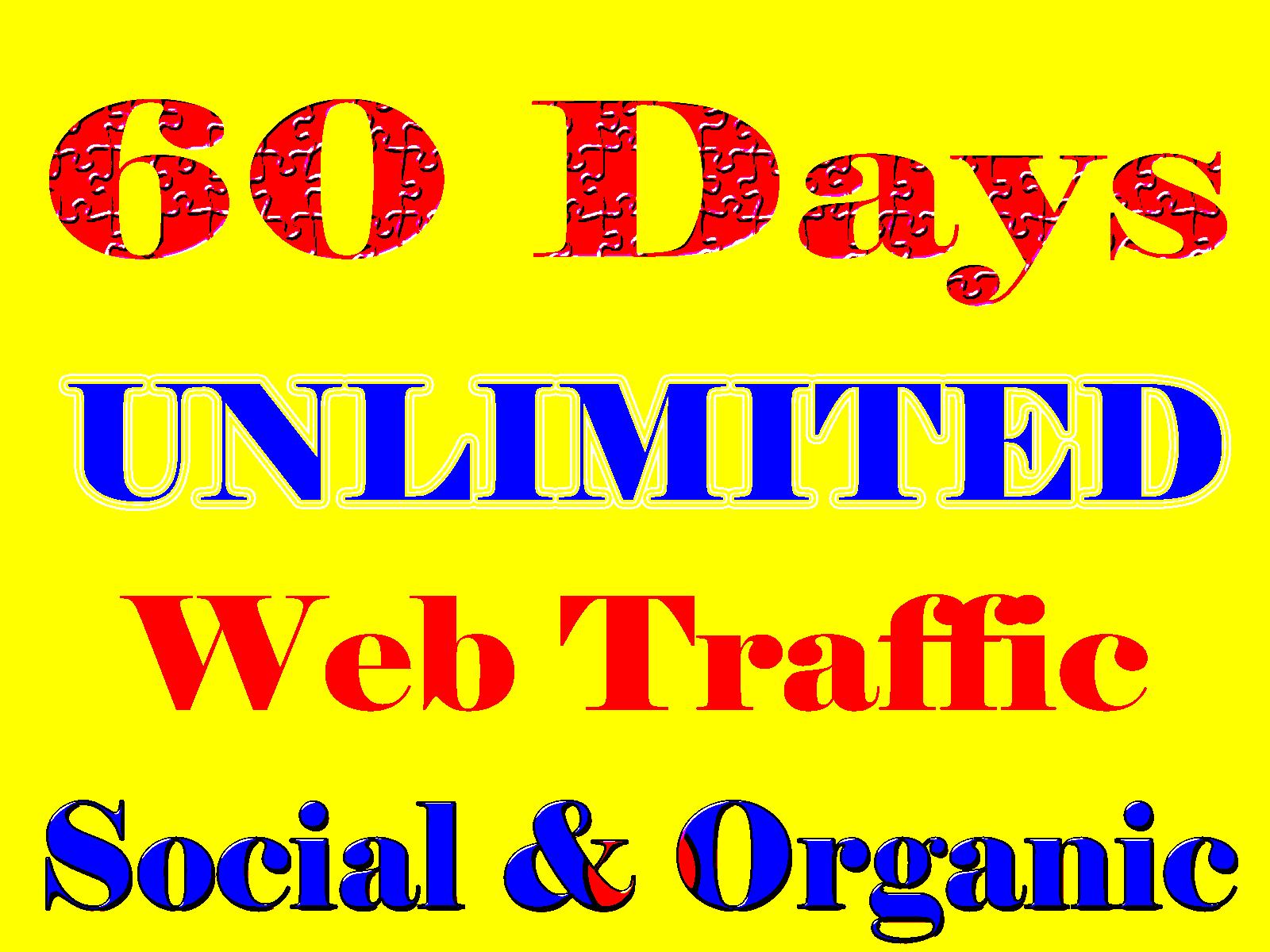 UNLIMITED organic & Social WEB TRAFFIC