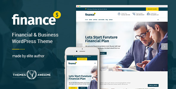 I can Give you Premium Finance - Financial, Business Accounting Theme