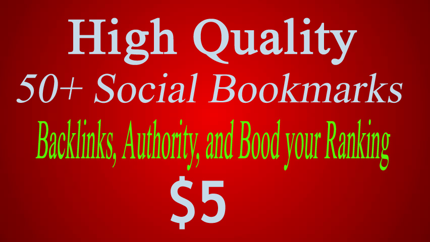 50+ Social Bookmarks To Your Site In 5 Days