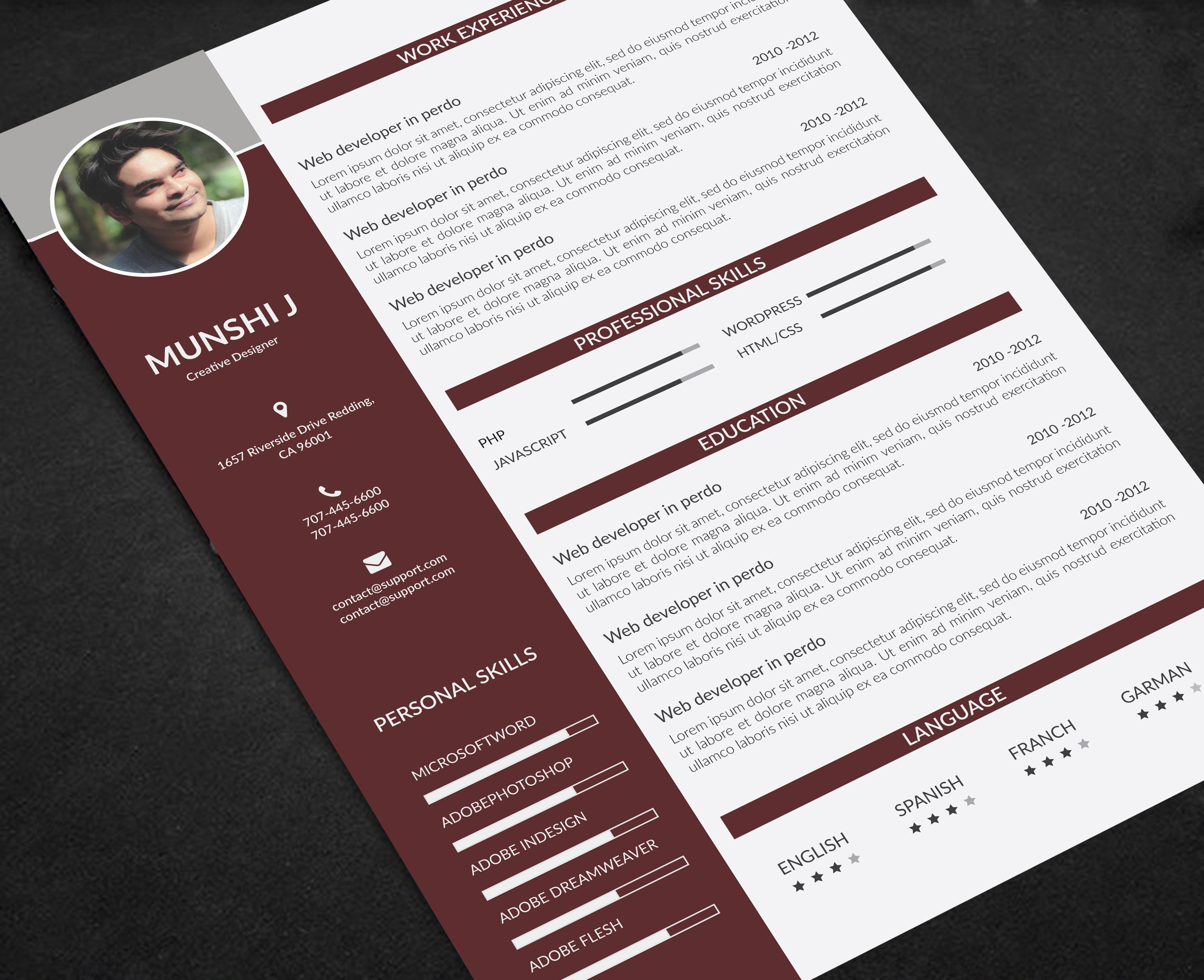 resume  cv  coverletter design for  15