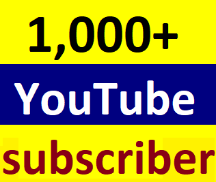 Guaranteed 1,000+You'tube channel subscriber non drop Instant start