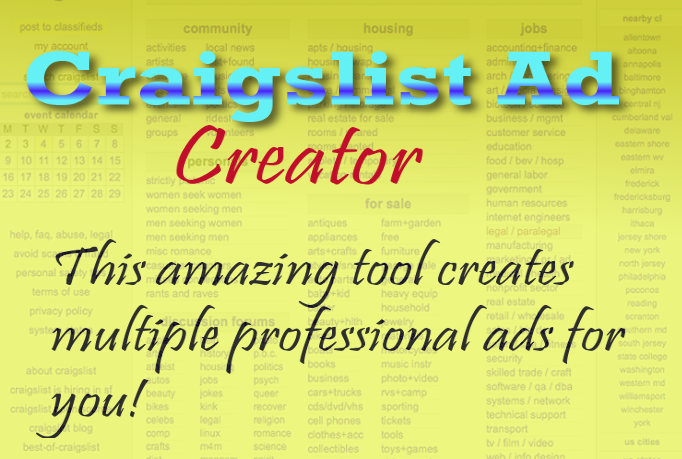 Craigslist Ad Creator Software - Generates Leads For Your Marketing & Posting