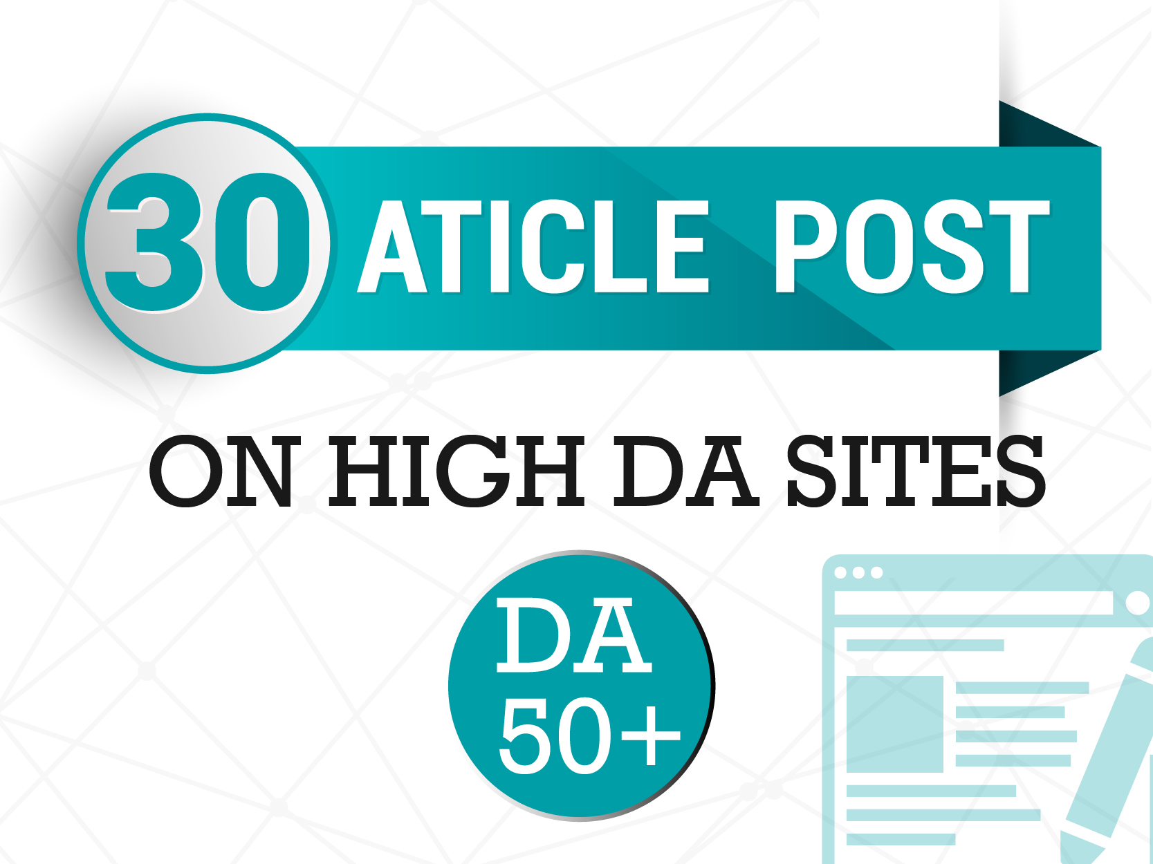 Do 25 Article Post On High DA50+ Sites