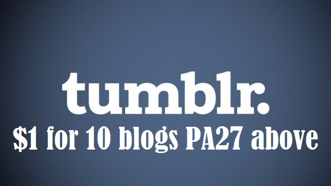 600+ Orders - I will Give you 10 Expired Tumblr Blogs...