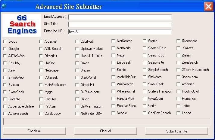 Website submitter software plus bonus.